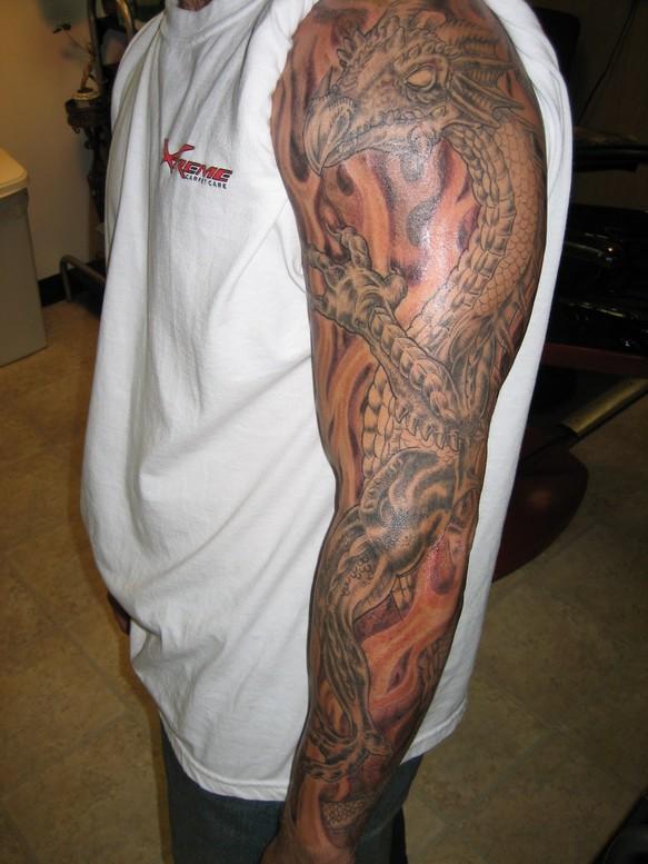 ideas sleeve admiral tattoo scottish was her tattoo progess for